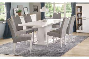 Комплет маса на развлекување Крос бел сјај и столици Ана